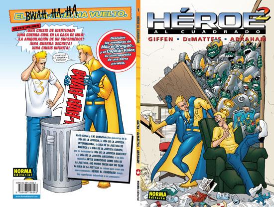 Contraportada de Héroe al cuadrado