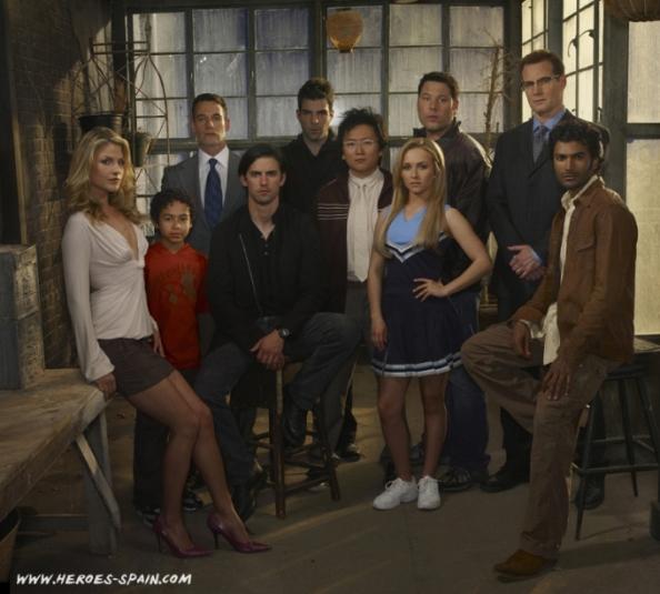 Parte del Cast de la Segunda Temporada de Heroes/NBC/ Heroes-Spain.Com