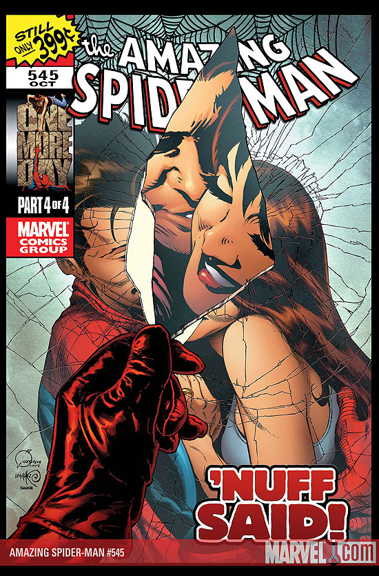 Portada del Amazing Spider-Man #545/Joe Quesada/Marvel