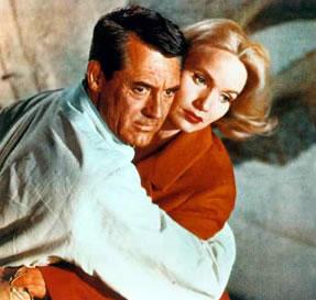 Eva Marie Saint en 1959 junto a Cary Grant en Con la Muerte en los Talones
