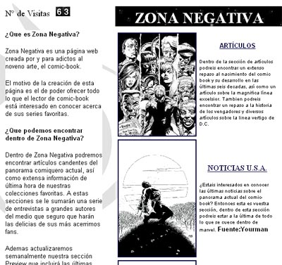 Zona Negativa en 1999