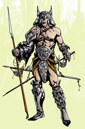 Detalle de Warlord #1, por Bart Sears