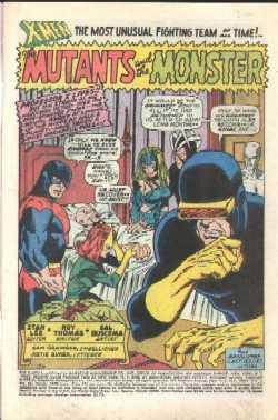 Primera pagina del X-Men #66