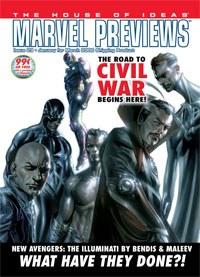 Marvel Previews con portada de los Illuminati