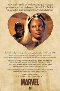 Invitacion de boda entre T'Challa y Ororo