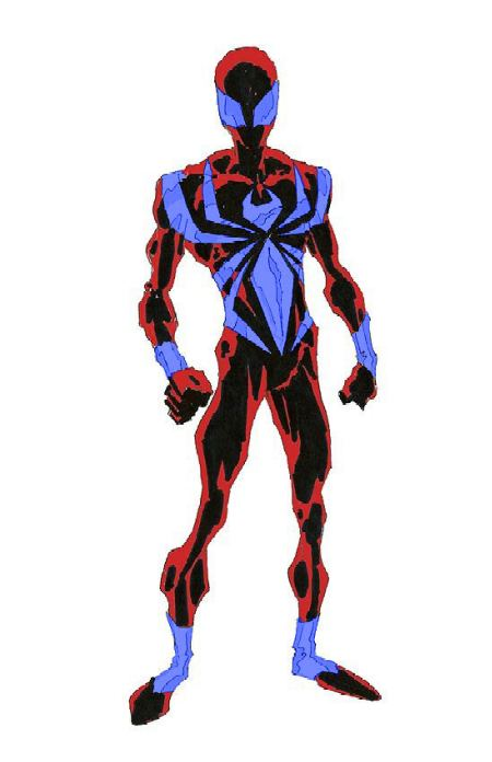Blue and Red Spidey