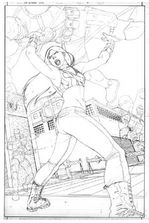 Lapices de Francis Portela para Capitan Universe-X23