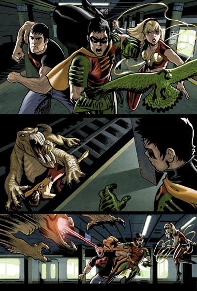 Javi Montes Color para una página de try-out de los Teen Titans (Simple prueba, que nadie vea nada más allá).