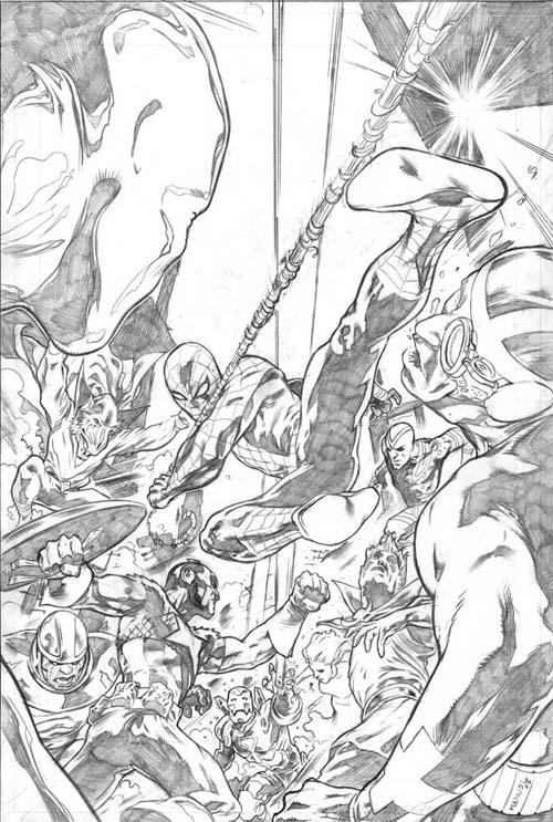 Manuel Garcia Lápices para la portada de Spider-Man: Breakout #5
