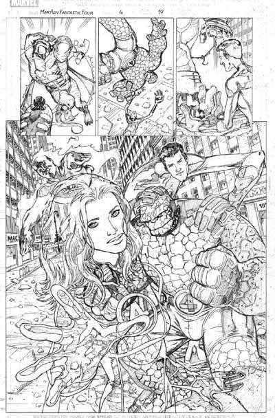 Juan Santacruz Página a lápiz para Marvel Adv. Fantastic Four #4