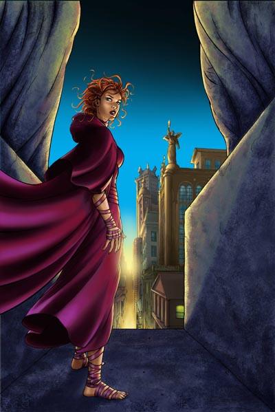 Marta Martínez: Color para la portada de Fallen Angel #3 (edición IDW).