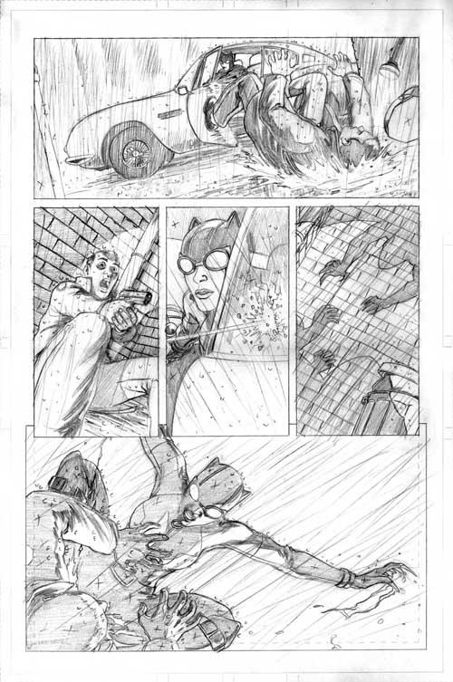 David López: Página try-out de Catwoman.