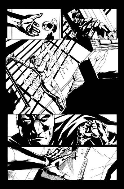Bit: Tintas a Pete Woods en Detective Comics #809 (War Crimes, epílogo de la macro saga War Games).