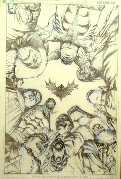 Alejandro Barrionuevo: Lápices para la portada de Batman Secret Files 2005: Villains