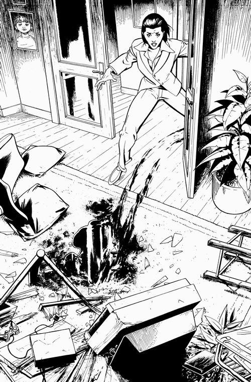 Fernando Blanco: Acabados y tintas para Manhunter #17