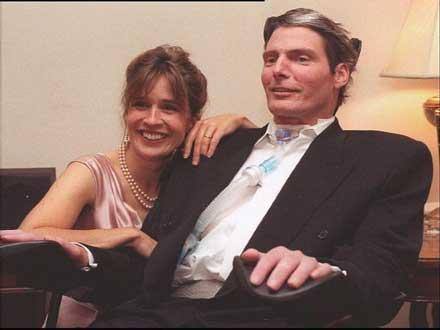 Danna y Christopher Reeve.