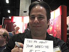 Señor simpatico...digooo Jimmi Palmiotti te cobra si quieres hablarle sobre Webs...no sabemos que pasa sobre Blogs