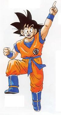 Goku un poco mas adulto (el nunca ha madurado)