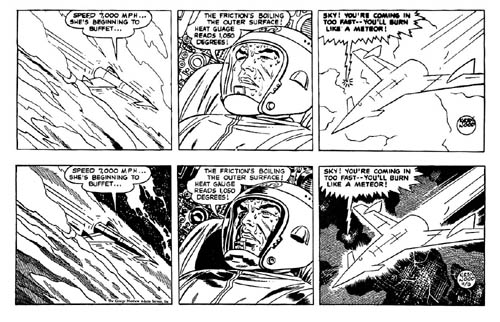Kirby/Wood/Tira a lápiz de Kirby a las que Wood aplicaba su impresionante técnica de luces y sombras/11-9-58