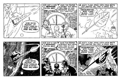 Kirby/Wood/Tira a lápiz de Kirby a las que Wood aplicaba su impresionante técnica de luces y sombras/11-7-58