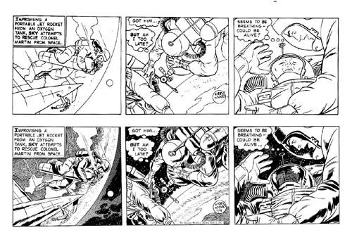 Kirby/Wood/Tira a lápiz de Kirby a las que Wood aplicaba su impresionante técnica de luces y sombras/11-4-58