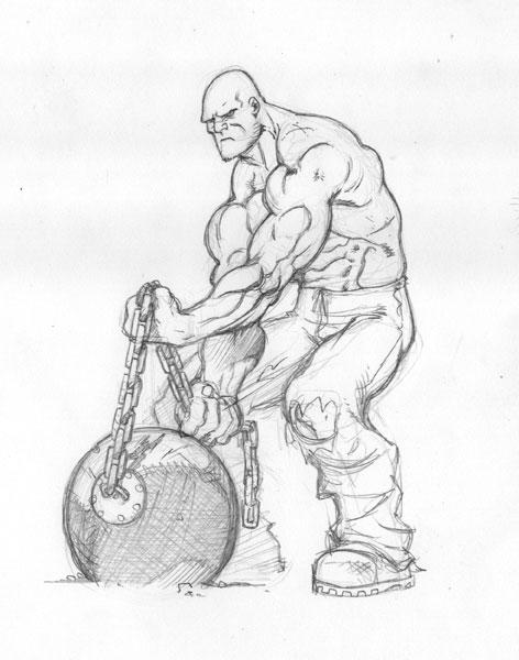Boceto del Ultimate Hombre Absorbente/ Mc Guiness