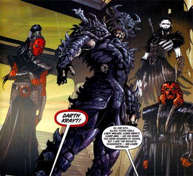Algunos de los nuevos Sith, y su lider, Darth Krayt