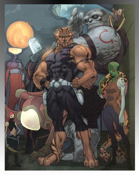 Los Omega Men por Pasqual Ferry en Adam Strange #4