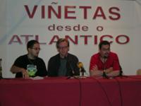 el traductor, Bruce Timm y Carlos Portela. En este momento, Kim todavía no había hecho acto de presencia