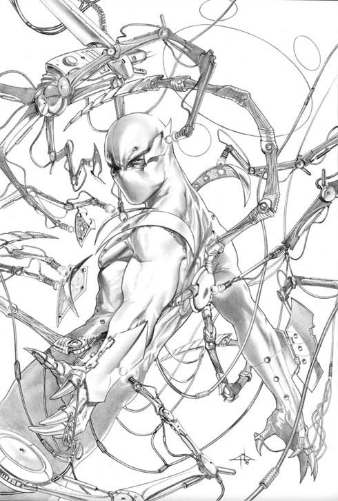 Portada del recopilatorio de Amazing Spider-Man 529-532. Gabrielle Dell'Otto