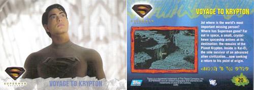 Super-Man Returns Trading Cards/ Toppl