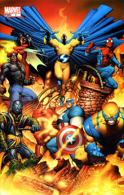 Portada completa alternativa de New Avengers #1 por Joe Quesada