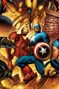 Portada alternativa de New Avengers #1 por Bryan Hitch
