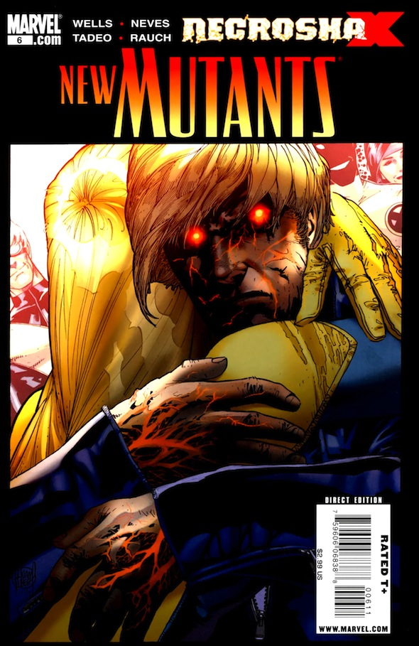 NECROSHA - PORTADA NEW MUTANTS #06 - ADAM KUBERT