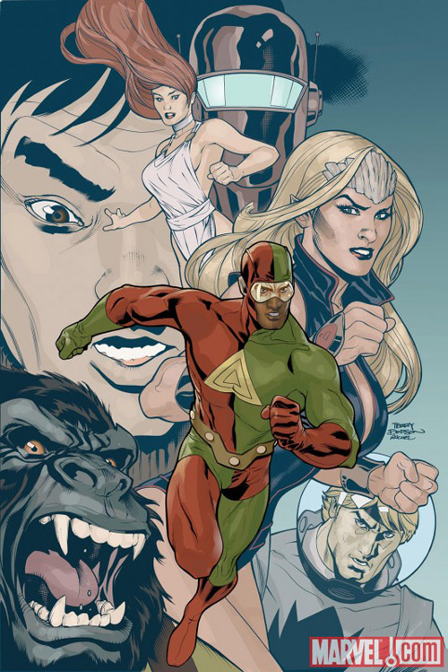 Portada de ATLAS #1/ Terry Dodson/ Marvel