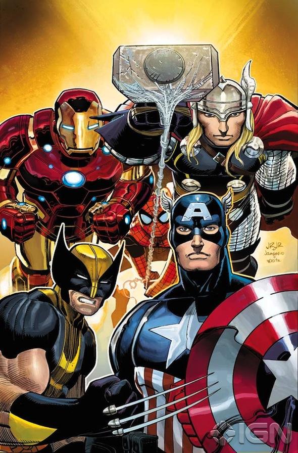 Portada de The Avengers #1 / John Romita Jr. / Marvel