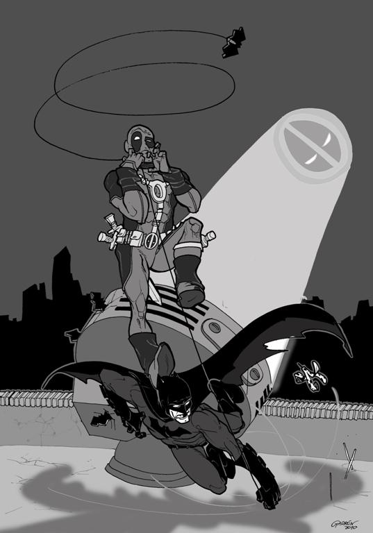 DEADPOOL Vs. BATMAN - FIGHT! / Javi Garrón / Marvel-DC