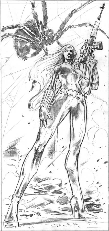 Sketch de Black Widow / Manuel García / Marvel