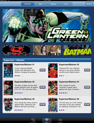 Aspecto de la App de DC en el iPad