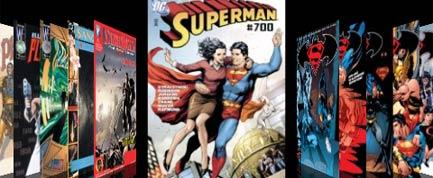 Algunos de los cómics de la app de cómics digitales de DC