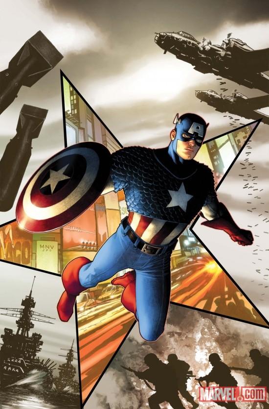 Cubierta del primer número de Capitán América
