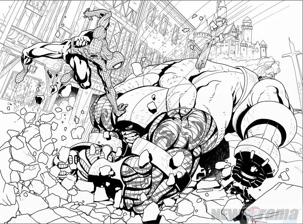 AvX: Salvador Larroca dibuja el combate Spiderman vs Coloso | Zona ...