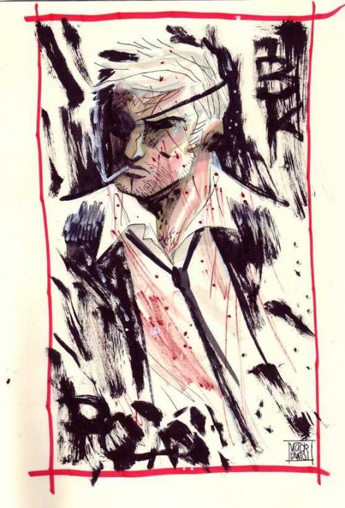 Boceto de Black Kaiser de Victor Santos