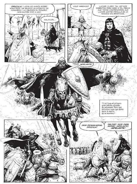 Vlad Drácula cabalga a la batalla