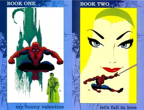 Portadas originales de Tim Sale para Spider-man: Blue #1 y #2