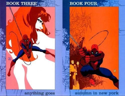 Portadas originales de Tim Sale para Spider-man: Blue #3 y #4