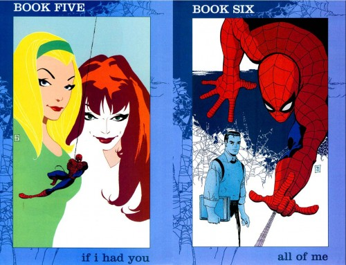 Portadas originales de Tim Sale para Spider-man: Blue #5 y #6