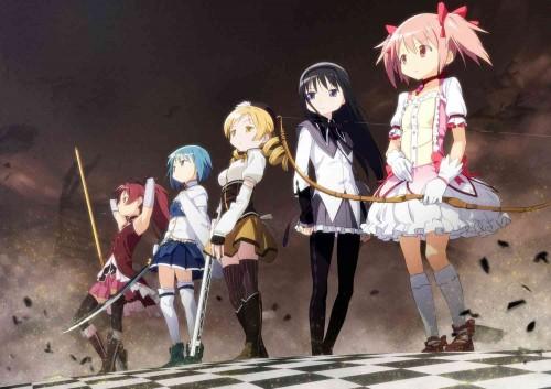 Escena del anime Puella Magi Madoka Magica