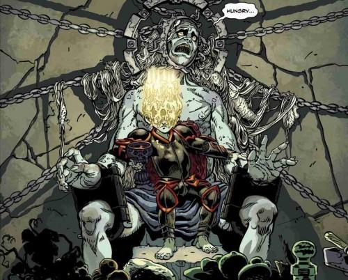 Hades en su trono según la interpretación de Cliff Chiang