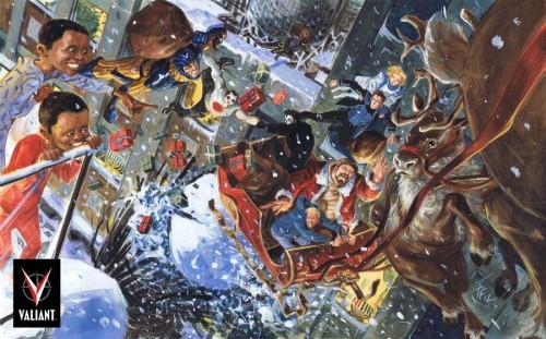 Postal de Valiant, pintada por Tom Fowler.